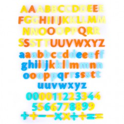 128 PIECES MAGNETIC LETTERS, NUMBERS & SIGNS