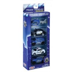 "3"" POLICE VEHICLES SET (5 CARS)"