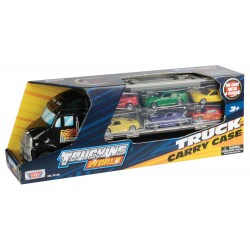 """14"""" TRUCK CARRY CASE w/6pc 3"""" cars"""