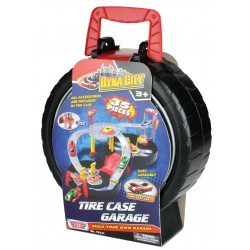 "DYNA CITY TIRE CASE GARAGE WITH TWO 3"" CARS"