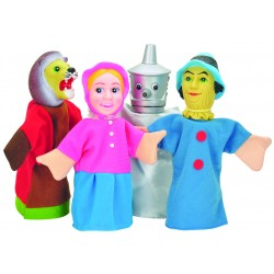 4 PIECES LARGE HAND PUPPET WITH DOORWAY THEATRE