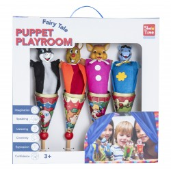4 PIECES METAL CONE PUPPET PLAYSET