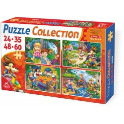 4 in 1 PUZZLE COLLECTION FAIRY TALES 24-35-48-60 PIECES