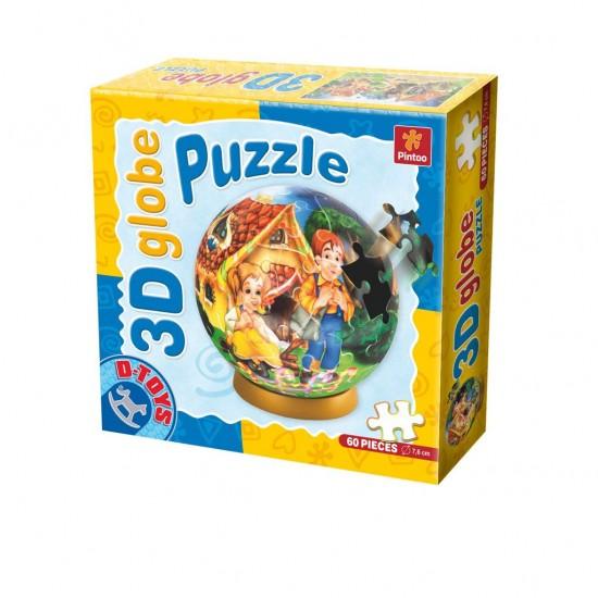 3D GLOBE PUZZLE FAIRY TALES 60 PCS