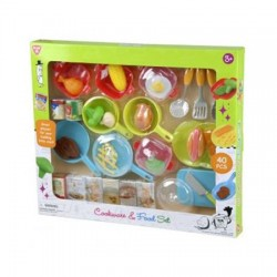 COOKWARE AND FOOD SET