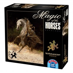 HIGH DIFFICULTY SPECIAL SHAPED PUZZLE 239 PCS MAGIC OF THE HORSES ARABIANS