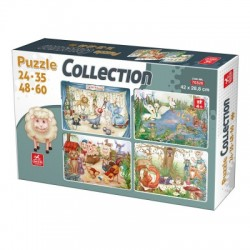 4 in 1 PUZZLE COLLECTION ANIMALS 24-35-48-60