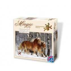 HIGH DIFFICULTY SPECIAL SHAPED PUZZLE 239 PCS MAGIC OF THE HORSES HAFLINGERS