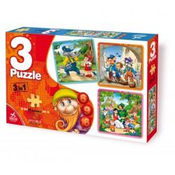 3 in 1 PUZZLE 6-9-16 PIECES