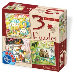 3 PUZZLES CLASSIC TALES 6-9-16 PIECES