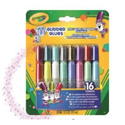 16 Washable Mini Glitter Glue