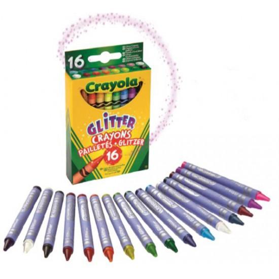 16 Glitter Crayons