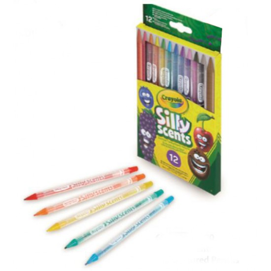 12 Silly Scents Twistable Coloured Pencils