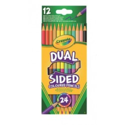 12 Dual Sided Colouring Pencils