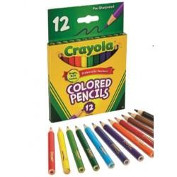 12 Half Length Coloured Pencils